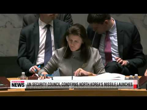 UN Security Council condemns North Korea's missile launches