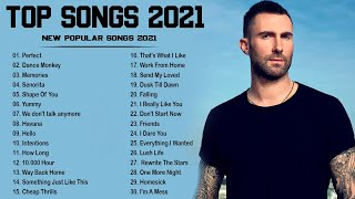 Pop Hits 2021 - Maroon 5,  Ed Sheeran, Adele, Shawn Mendes, Taylor Swift, Sam Smith, Dua Lipa