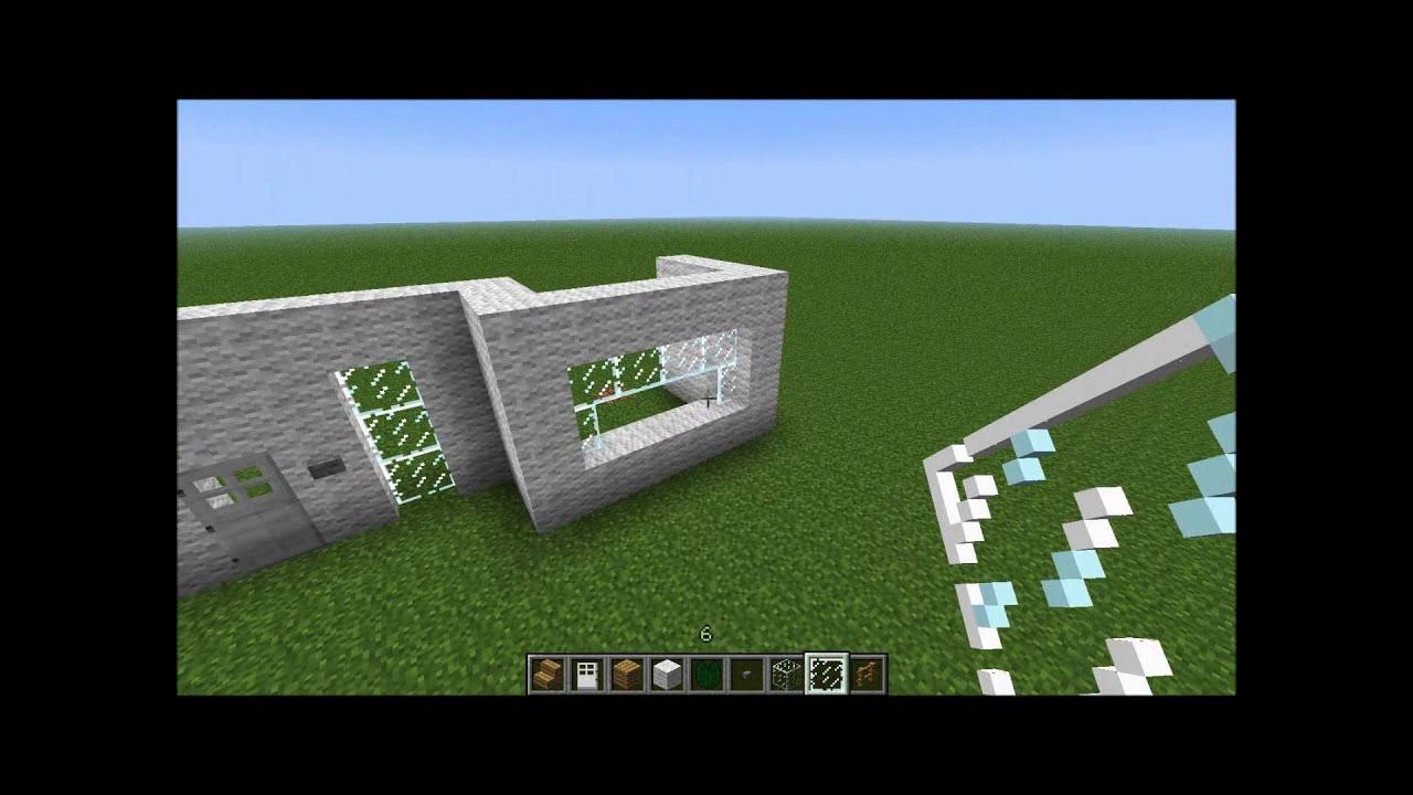 Minecraft modernes haus zum nachbauen youtube for Craftingpat modernes redstone haus