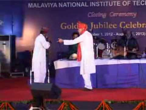 Dr. Farooq Abdullah with Pt. VishwaMohan Bhatt @ Golden Jubilee Celebrations of MNIT Jaipur