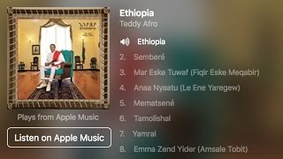 Teddy Afro 'Ethiopia' Album now Available on iTunes