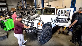 BUILDING A $200,000 HUMMER H1 FOR OFF ROAD! * MILITARY GRADE*