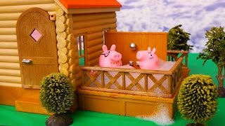 Peppa Pig Stories ! Toys and Dolls Fun ! Grandma Pig Babysits Peppa & George | SWTAD