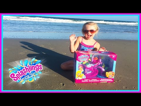 Splashlings Coral Playground Mermaid Toys at the Beach W/ Blind Bags Surprises & Play Doh Girl