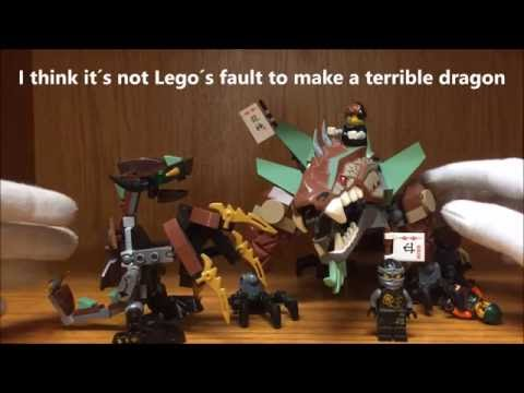 LEGO Ninjago Cole's Dragons Comparison: Rocky vs Earth Elemental Dragon & Review
