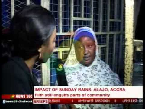 News360 - Impact of Sunday rains, Alajo, Accra - 16/6/2015