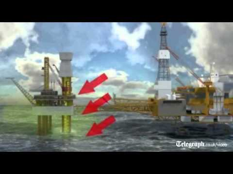 Animation of Total's gas leak in North Sea