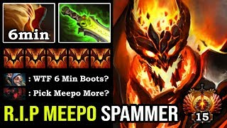 WTF 6MIN BOOTS 9K SF GOD Crazy Triple Raze Deleted Meepo Spammer 100% Fast Hand + Max Soul Buff DotA