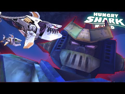 ROBO SHARK - Collect TOY ROBOTS To Unlock Him! ||  Hungry Shark World