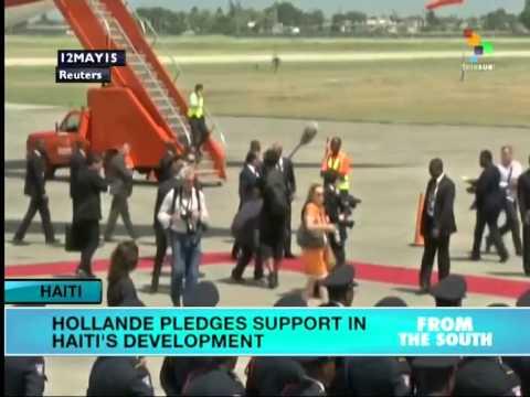 Hollande Pledges Inveatment in Haiti's Development, but No Reparations