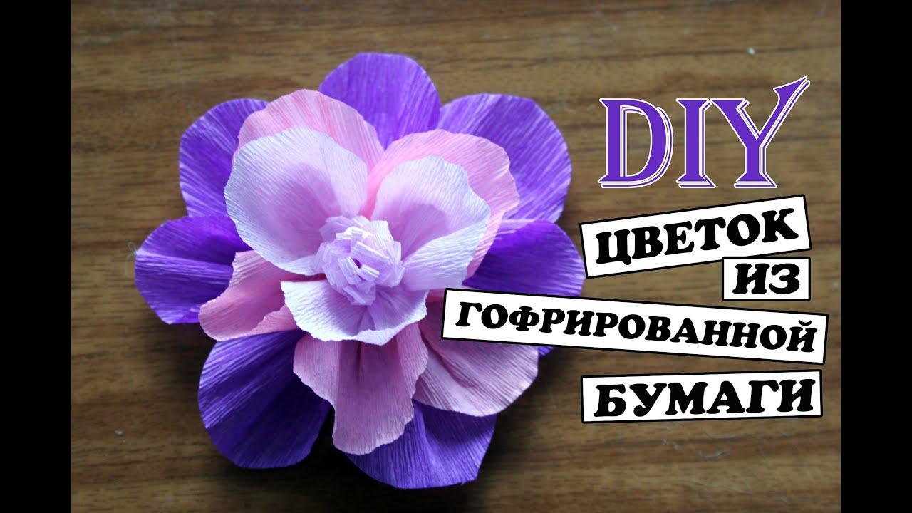 Маленькие цветы из гофрированной бумаги своими руками мастер класс 72
