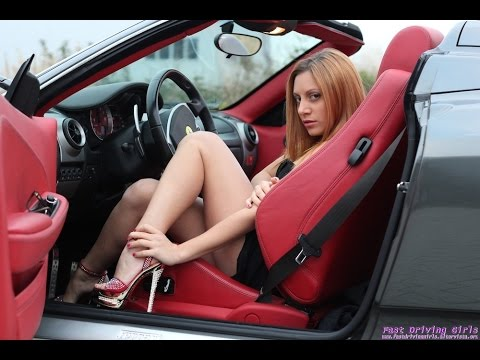Fast Driving Girls - Marty Driving Ferrari F430 F1 close to 300 km/h in heels (054)