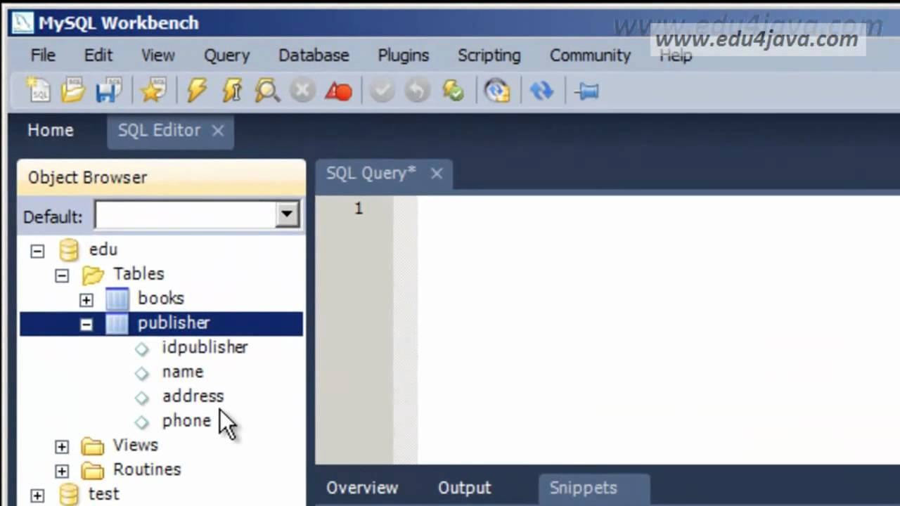 Tables create alter drop table with mysql workbench youtube - Mysql create table example ...