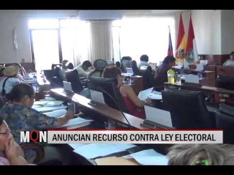 31/10/2014-17:22 ANUNCIAN RECURSO CONTRA LEY ELECTORAL
