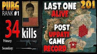 PUBG Rank 1 - Menthol 34 kills [AS] SQUAD TPP - PLAYERUNKNOWN'S BATTLEGROUNDS #201
