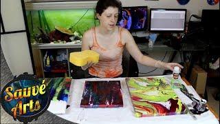 How I Varnish My Fluid Acrylic Paintings