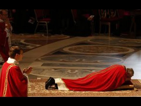 Pope prostrates himself at Good Friday Mass