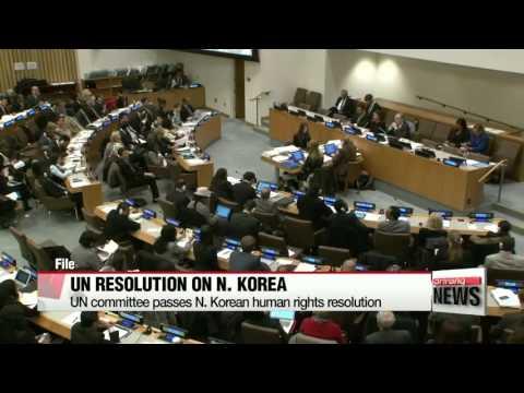 UN committee passes N. Korean human rights resolution   ′ICC회부 책임자 처벌′ 북한 인권결의안