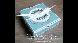 Stampin' Up! tutorial - mini pizza box with Petal Garden