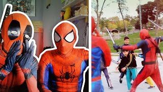 İNANILMAZ GÜLMEME CHALLENGE !! (SPİDERMAN VE DEADPOOL)