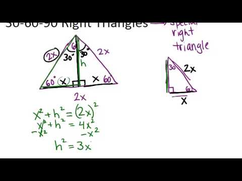306090 Right Triangles Principles