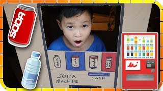 Kids Pretend Play SODA Vending Machine Made From CardBoard