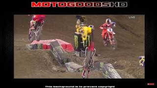 Ken Roczen Suffers Hard Crash - Anaheim 2 - 2017 Monster Energy Supercross