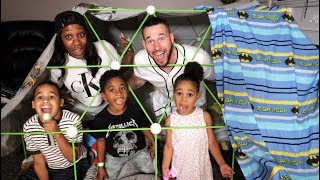 WE TRANSFORMED OUR HOUSE INTO A FORT! GHOST STORIES AT 3AM