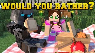 Minecraft: WOULD YOU RATHER? (CRAZY QUESTIONS!) Mini-Game