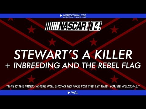 Tony Stewart a Killer, In Breeding, and the Rebel Flag - Nascar 14 Trolling with Face Cam