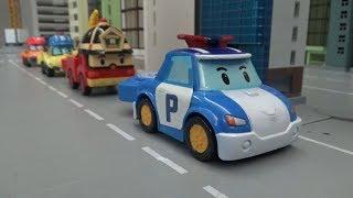 Robocar Poli Shooting Car! Stop the poaching truck! Toys play 로보카폴리 슈팅카! 밀렵트럭을 막아라! 장난감 놀이