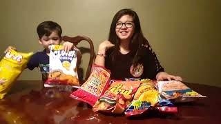 Pinoy Chitchirya! First Time Filipino Snacks Taste Test
