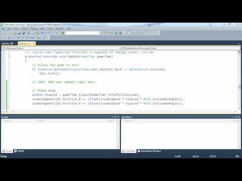 4. díl -- Zpracování vstupu, pohyb objektu (Programování her v XNA)