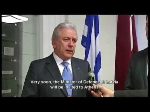 Defence Minister Dimitris Avramopoulos' official visit to Latvia