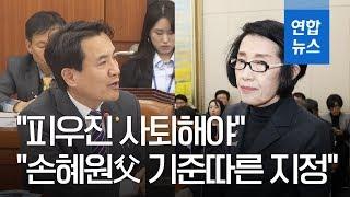 """야당, 보훈처장에 십자포화…""""손혜원에 특혜행정, 사퇴해야"""" / 연합뉴스 (Yonhapnews)"""