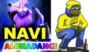 NAVI vs ALOHADANCE Stack! - TI8 LAST CHANCE GG DOTA 2