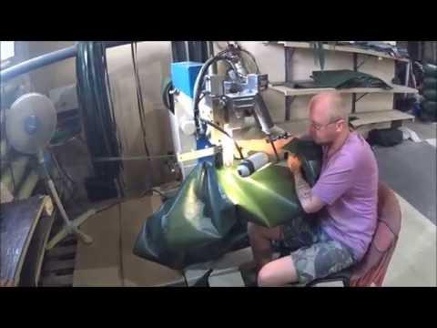 BF-№ 36.Экскурсия на производство надувных лодок Roger. Изготовление лодок.