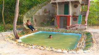 Build Beautiful Swimming Pool For Bamboo Water Slide And Swimming