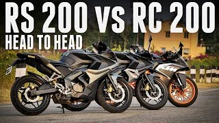 RS 200 vs KTM RC 200 | ACCELERATION TEST | ALL GEARS |