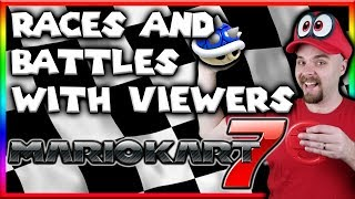 Mario Kart 7 (3DS) - Races and Battles with Viewers - LIVE