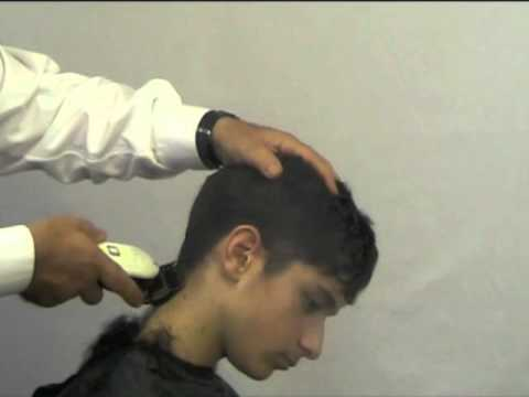 to cut your sons hair into a modern style at home , using Freestyla ...