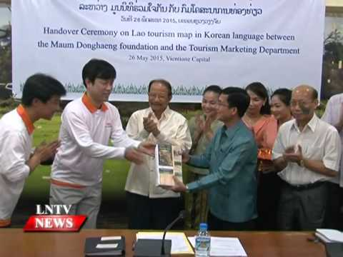 Lao NEWS on LNTV: A new map of Laos highlights the country's tourist attractions.27/5/2015