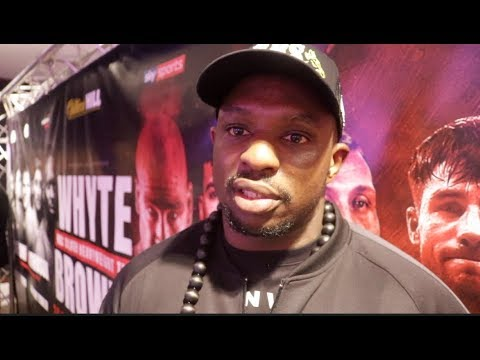 'I WANT WILDER OR JOSHUA - I DONT CARE' - DILLIAN WHYTE REACTS TO DESTROYING LUCAS BROWNE IN 6 RNDS