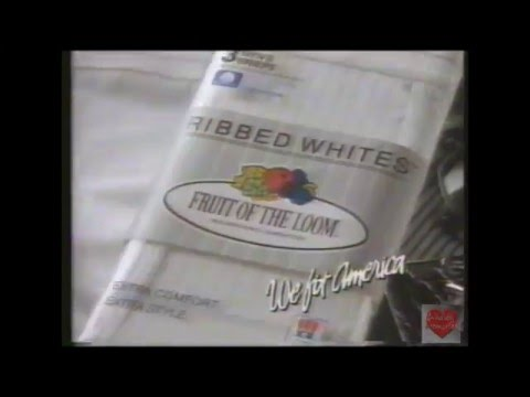 David Hasselhoff & Don Diamont Fruit Of The Loom Ribbed White Television Commercial 1991
