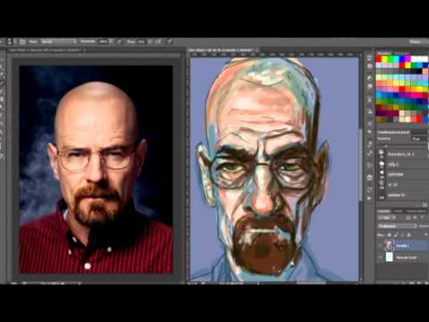 Speed Painting Caricature - Heisenberg
