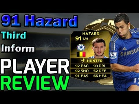 Fifa 14 Ultimate Team 91 Hazard TIF Player Review and In Game Stats