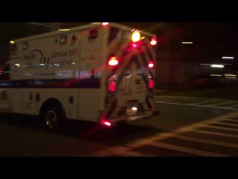 NORTH SHORE LIJ LENOX HILL HOSPITAL EMS AMBULANCE RESPONDING ON BROADWAY IN MANHATTAN, NYC.