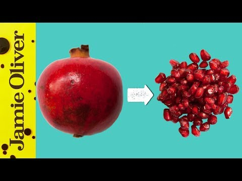 How to deseed a pomegranate - Deseed pomegranate less one minute video ...