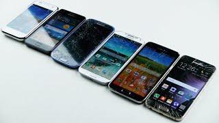 Samsung Galaxy S6 vs S5 vs S4 vs S3 vs S2 vs S1 Drop Test!