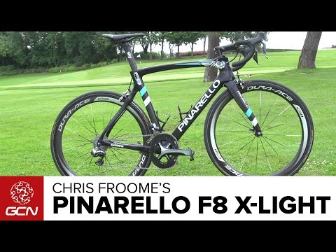 Chris Froome's New Ultralight Pinarello F8 Climbing Bike   Tour De France 2016